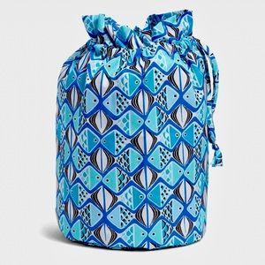 Vera Bradley Ditty Bag-Go Fish Blue